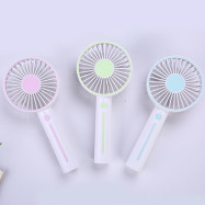 Mini USB Charging Handheld Fan with Mobile Phone Holder Makeup Mirror
