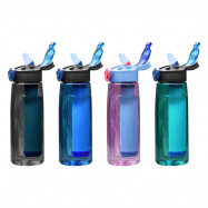 Portable Filtered Water Bottle for Camping Hiking