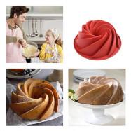 Spiral Shape Non-stick Cake Silicone Mold