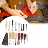 18pcs Stitching Carving Sewing Leather Craft Punch Tools
