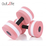 Outlife 2pcs Fitness Pool Exercise EVA Aquatics Dumbbell