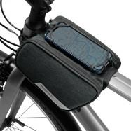 ROSWHEEL 121461 Bicycle Top Tube Pannier Bike Frame Bag with Phone Mount Holder