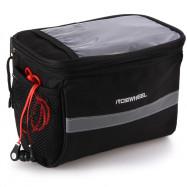 Roswheel 3.5L Bike Handlebar Bag Bicycle Front Tube Pocket 600D Map Pack Riding Cycling Supplies
