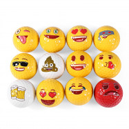 Dominant 12pcs Emoji Double Layer Practice Golf Ball