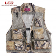 LEO 27913 - FC Outdoor Fishing Hunting Mesh Vest with Multiple Pockets