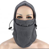 6 in 1 Thermal Fleece Outdoor Wind Stopper Face Mask Anti-terrorism Bilayer Wigs Cap