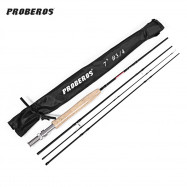 Proberos 2.1M 4-section Carbon Fly Fishing Rod Fish Tackle