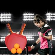 BOLI A09 2pcs / Set Table Tennis Ping Pong Racket with Ball
