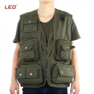 LEO Army Green Fishing Vest