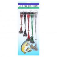 100pcs / lot Fishing Line Steel Wire Leader Swivel Tackle 16 / 18 / 21 / 23 / 28cm