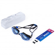 WHALE Adult Professional Silicone Water Resistant Anti Fog Swimming Goggles with Box
