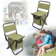 Folding Backrest Chair Portable Ice Thermos Bag Fishing Stool