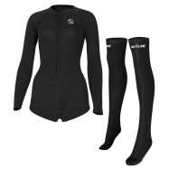 SLINX Women 2mm Long Sleeve Sunblock Bikini Diving Suit Wetsuit