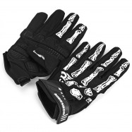 2pcs Robesbon Full Finger Cycling Bicycle Gloves Mountain Bike Sports Non-slip Breathable Skull