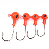 Trulinoya 5Pcs 3.5g Spherical Jig Head Hook with Metal Single Barbed Hook
