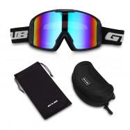 GUB S8000 Outdoor Ski Goggles Double-layer Lens TPU Frame Anti-fog Eyeglasses