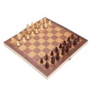 3-in-1 Portable Folding Board Wooden International Chess Set
