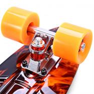 CL - 78 22 inch Hellfire Pattern Retro Skateboard Longboard Mini Cruiser