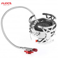 ALOCS CS-G04 Split Hurricane Ultralight Backpacking Camping Stove Gas Furnace Burner