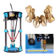 Anet 6pcs Thermostable 3D Printer Part Extruder Brass Nozzle Head