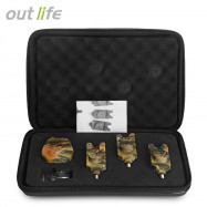 Outlife JY - 35 - 3 Camouflage Fishing Bite Alert Receiver Set