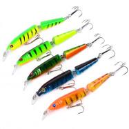 5PC Fishing 10.5CM/9.6G Minnow Plastic Fishing Tackle Bait