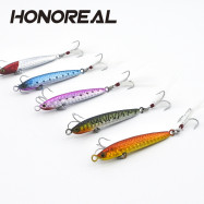 HONOREAL 14g 20g New Metal Jigging Fishing Lure Lead Fish with VMC Hook