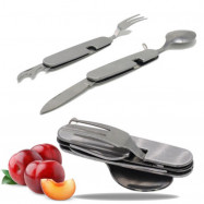 Multi Functional Camping Tool Spoon  Fork  Knife  Can Opener and More