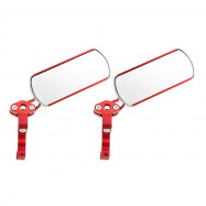 1 Pair Bicycle Reflective Safety Cycling Handlebar Rear View Mirror