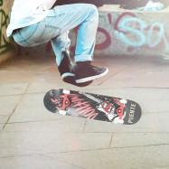 PUENTE 608 Four-wheel Double Kick Deck Skateboard with T-shape Gadget