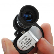 Mini 8X20 Pocket Monocular Telescope Eyepiece with 4X Magnifier Microscope
