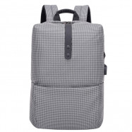 Stylish Stripe Business Laptop Backpack with USB Port