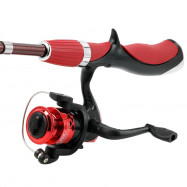Fishing Rod Fiberglass Telescopic 1.4m Folding Spinning Reel Fishing Tackle Set
