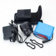 ZHISHUNJIA B80 8-LED 3-Mode Cold White Bike Light / Headlamp - 10x 18650 Battery