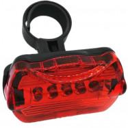 Waterproof 5 LED Lamp Bike Front Head Light Rear Safety Flashlight Set