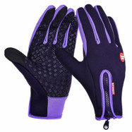 Pair of Unisex Full Finger Touch Screen Warm-keeping Ski Gloves Handwear for Riding