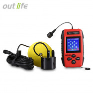 Outlife Fishing Sonar Fish Finder Alarm Sensor Transducer with LCD Display