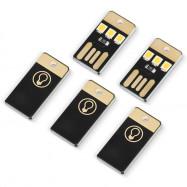 5PCS 0.2W 3 x SMD 2835 22LM USB LED Light Portable Camping Lamp