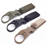 Outdoor Tactical Nylon Webbing Water Bottle Hang Buckle Multi-function Carabiner
