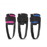 2PCS Ankle Straps Edging Metal Buckles Gym Cycling Leg Training Taekwondo Football