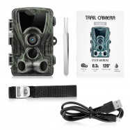 Outlife HC - 801A Hunting Trail Camera 16MP 1080P IP65 Night Vision 0.3s Trigger Wildlife Surveillance