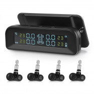ZEEPIN C260 Tire Pressure Monitoring SystemSolar TPMSUniversal Real-time Tester LCD Screen with 4 Internal Sensors