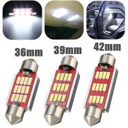 White Festoon Canbus Error Free Interior Light Bulb 36 39 42mm 12SMD 4014 LED