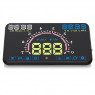 E350 Auto Car 5.8 Inch HUD Head Up Display OBDII Interface Engine Fault Alarm Dynamic Speed