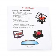 350 3.5 inch Adjustable LCD Screen Car Monitor
