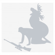 Funny Moose Hunting Car Sticker Personalized Reflective Decal