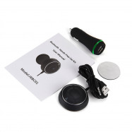 NFC Bluetooth V4.0 Car Kit Audio AUX Receiver Hands-free Calling Dual USB Charger Built-in Microphone
