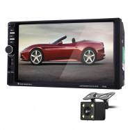 7060B 7 inch Car Audio Stereo MP5 Player Video Remote Control Rearview Camera GPS Navigation