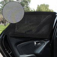 TIROL T23963 Universal 2pcs Car Window Mesh Sun Shade
