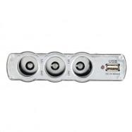 New Car Smoke Lighter Socket Splitter 3-Way USB Charger Adapter DC 12V +USB Port